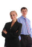 Businesswoman and businessman Stock Image