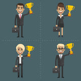 Businesswoman and businessman holding cup Stock Image
