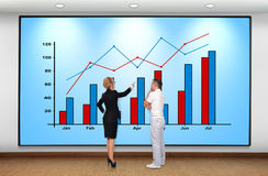 Businesswoman and businessman Stock Photography