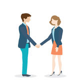 Businesswoman and businessman shaking hands Royalty Free Stock Image