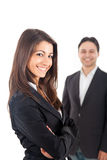 Businesswoman and businessman teamwork Royalty Free Stock Photography