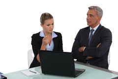 Businesswoman and businesswoman royalty free stock images