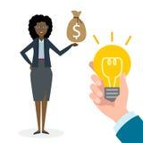 Businesswoman buy idea. Stock Photo