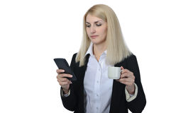 Businesswoman with calculator Royalty Free Stock Photo