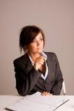 Businesswoman with calendar Stock Photos