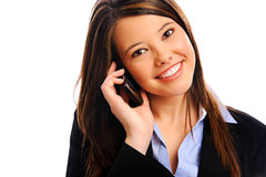 Businesswoman on a call Stock Photos