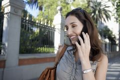 Businesswoman On A Call Stock Photo