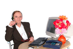 Businesswoman, call center Stock Images