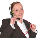 Businesswoman, call center Royalty Free Stock Image