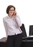 Businesswoman calling Stock Photo