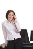 Businesswoman calling Stock Photo