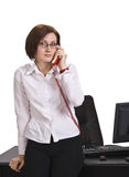 Businesswoman calling Stock Photos