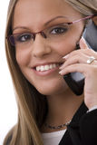Businesswoman calling on mobile Royalty Free Stock Photos