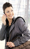 Businesswoman calling on mobile Royalty Free Stock Photography