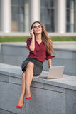 Businesswoman calling over the phone Royalty Free Stock Photography