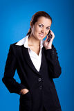 Businesswoman calling at phone Royalty Free Stock Image
