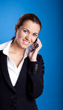 Businesswoman calling at phone Stock Photography