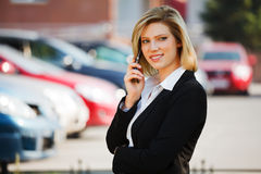 Business woman calling on the phone Royalty Free Stock Photography