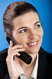 Businesswoman calling at phone Stock Image