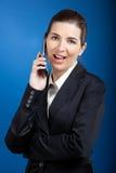 Businesswoman calling at phone Stock Photos