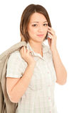 Businesswoman calling to the her cellphone Stock Image