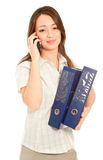 Businesswoman calling to the her cellphone Royalty Free Stock Images