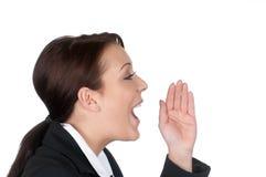 Businesswoman calls Royalty Free Stock Photo