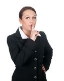 Businesswoman calls for calm Stock Image