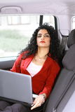 Businesswoman in car Royalty Free Stock Images