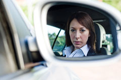 Businesswoman in car Stock Photography