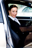 Businesswoman in car Royalty Free Stock Image