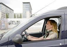 Businesswoman in the car Stock Photo