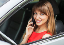 Businesswoman in car Royalty Free Stock Photo