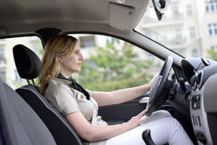 Businesswoman in the car Royalty Free Stock Photo