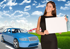 Businesswoman with car Stock Photo