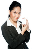 Businesswoman With Card Royalty Free Stock Image