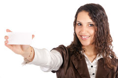 Businesswoman card Royalty Free Stock Photos