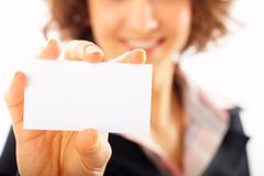 Businesswoman Card Royalty Free Stock Photo