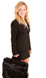 Businesswoman Carrying a Briefcase Stock Photos