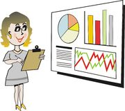 Businesswoman cartoon Stock Photography