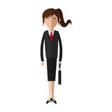 Businesswoman cartoon icon. Over white background. colorful design. vector illustration Stock Image