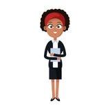 Businesswoman cartoon icon Stock Image