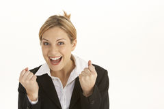 Businesswoman Celebrating Royalty Free Stock Images