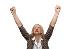 Businesswoman celebrating Stock Images