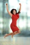 Businesswoman Celebrating Stock Images