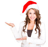 Businesswoman celebrating Christmas Stock Images