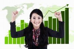 Businesswoman celebrating her accomplishment Stock Photography