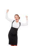 Businesswoman celebrating her succes Royalty Free Stock Photo