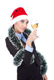 Businesswoman celebrating new year Royalty Free Stock Images