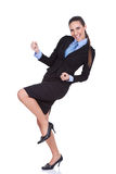 Businesswoman celebrating success Royalty Free Stock Photography